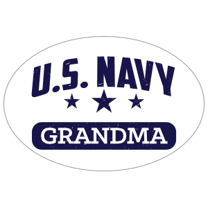 US Navy Grandma Oval Sticker