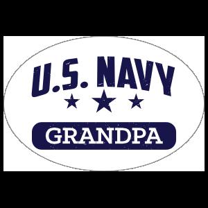 US Navy Grandpa Oval Sticker