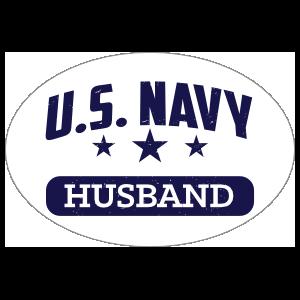 US Navy Husband Oval Sticker