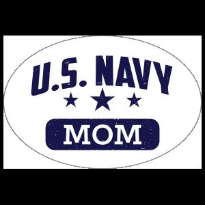 US Navy Mom Oval Sticker