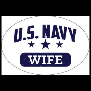 US Navy Wife Oval Sticker