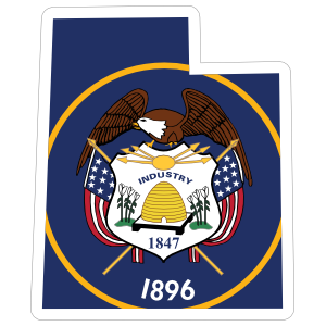 Utah Flag State Sticker