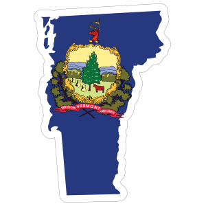 Vermont Flag State Sticker