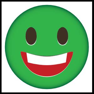 Very Happy Phone Emoji Sticker