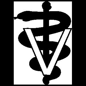 Veterinary Symbol Sign Sticker