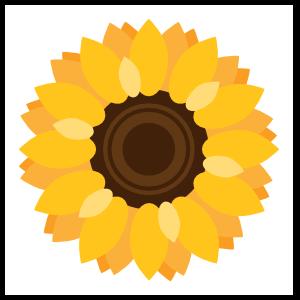 Vibrant Sunflower Sticker