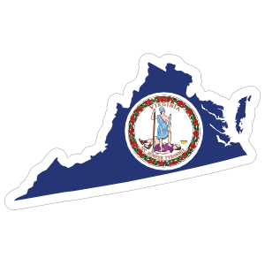 Virginia Flag State Sticker