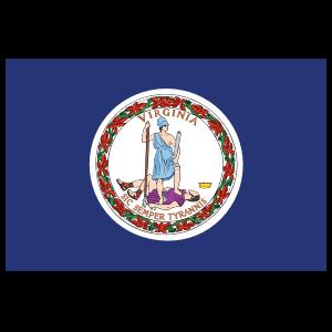 Virginia Va State Flag Sticker