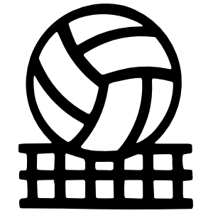 Volleyball & Net Sticker