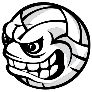 Volleyball With Angry Face Sticker
