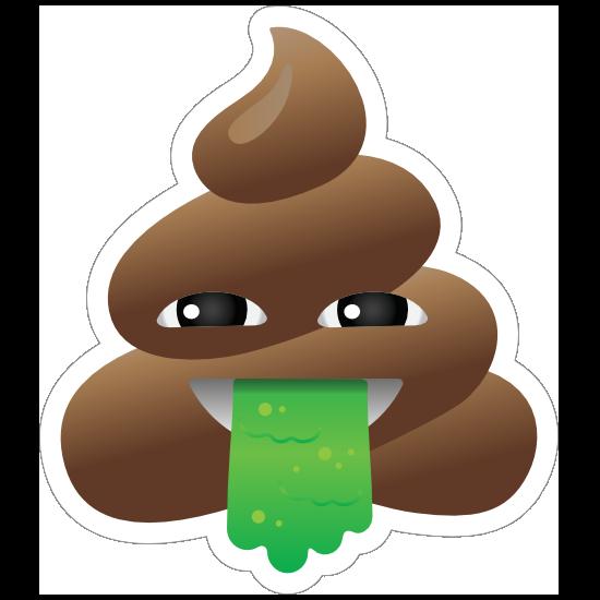 Vomiting Poop Emoji Sticker