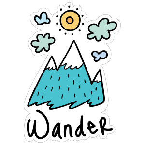 Wander Camping Sticker
