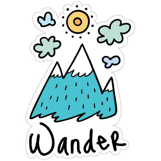 Wander Camping Sticker