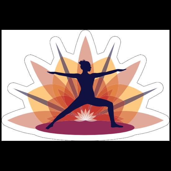 Warrior Yoga Sunrise Sticker