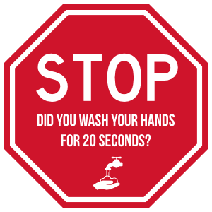 Wash Your Hands Stop Sign Sticker
