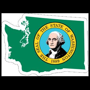 Washington Flag State Sticker