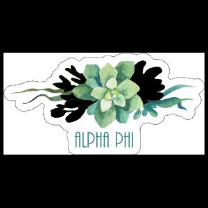 Watercolor Succulent Bouquet Alpha Phi Sticker