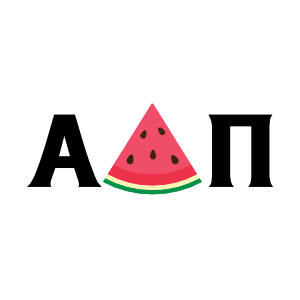 Watermelon letters Alpha Delta Pi Sticker