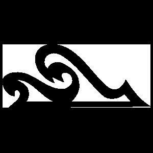 Wave Outline Sticker