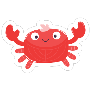 Welcoming Crab Sticker