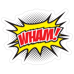 Wham Comic Sticker
