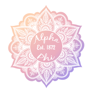 White Alpha Phi Mandala Sticker