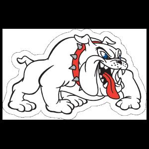 White Bulldog Mascot Sticker