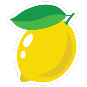 Whole Lemon Sticker