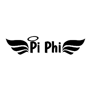 Wings and Halo Pi Beta Phi Sticker