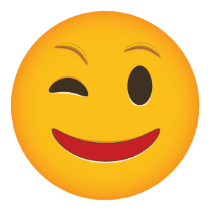 Winking Phone Emoji Sticker