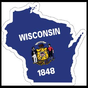 Wisconsin Flag State Sticker