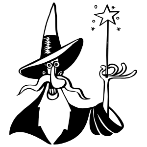 Wacky Wizard Sticker