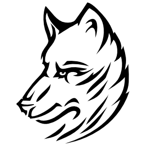 Cool Coyote Head Sticker