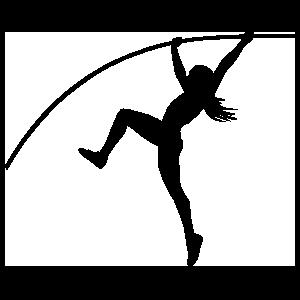 Women's Pole Vaulter Sticker