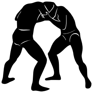 Wrestlers Standing Sticker