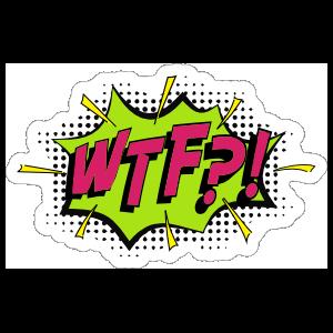 Wtf Comic Sticker