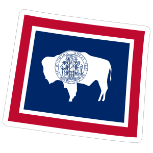 Wyoming Flag State Sticker