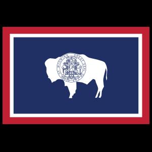 Wyoming Wy State Flag Sticker