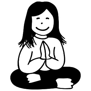 Yoga Girl Smiling Sticker