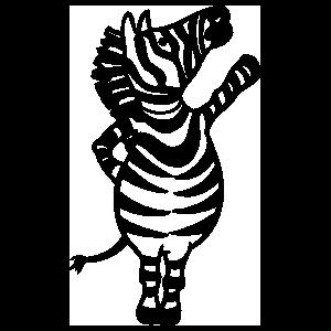 Zebra Waving Sticker