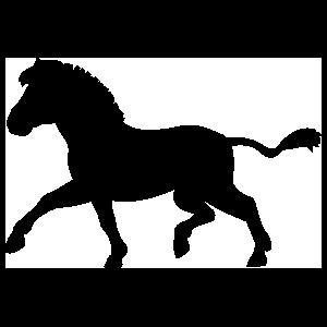Zebra Silhouette Running Sticker