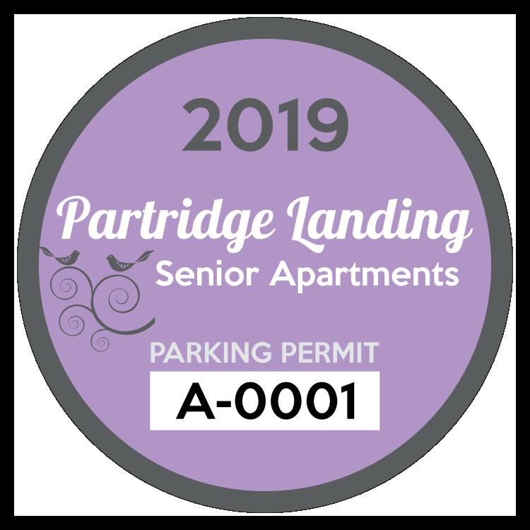Apartment Circle Logo Parking Permit Sticker