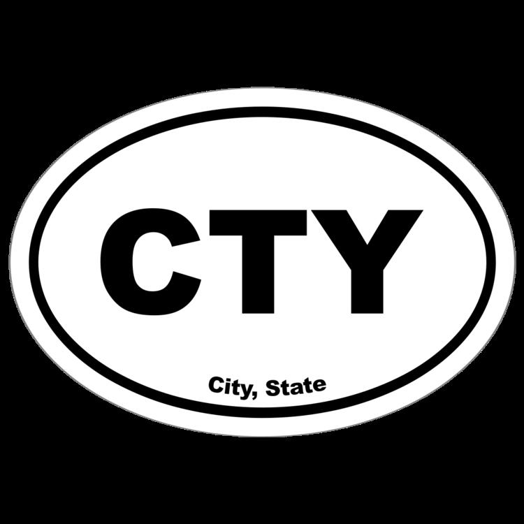 Custom City Oval Stickers