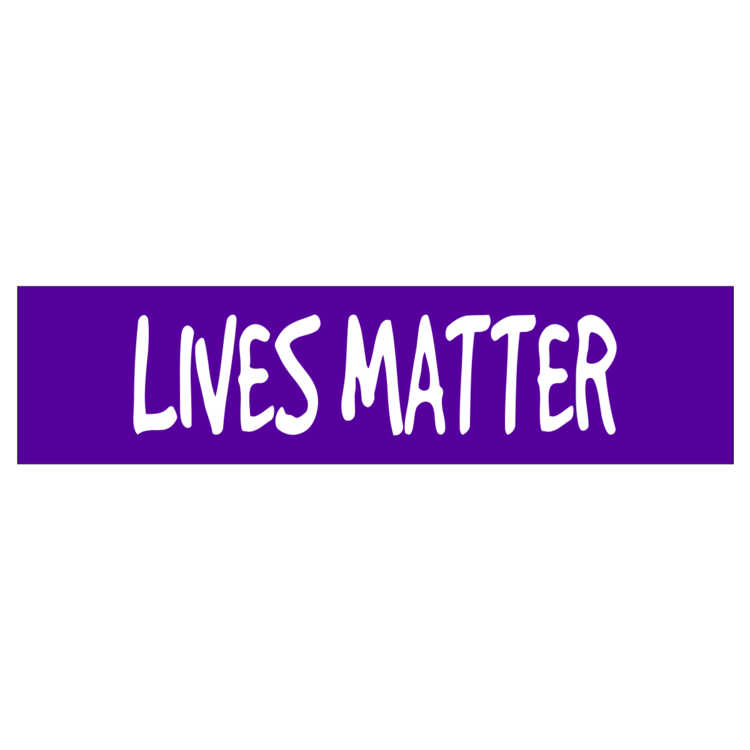 Lives Matter Customizable Bumper Sticker