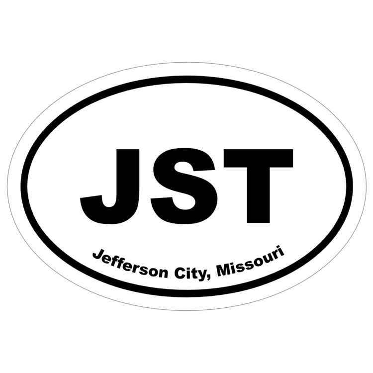 Jefferson City, Missouri Oval Stickers