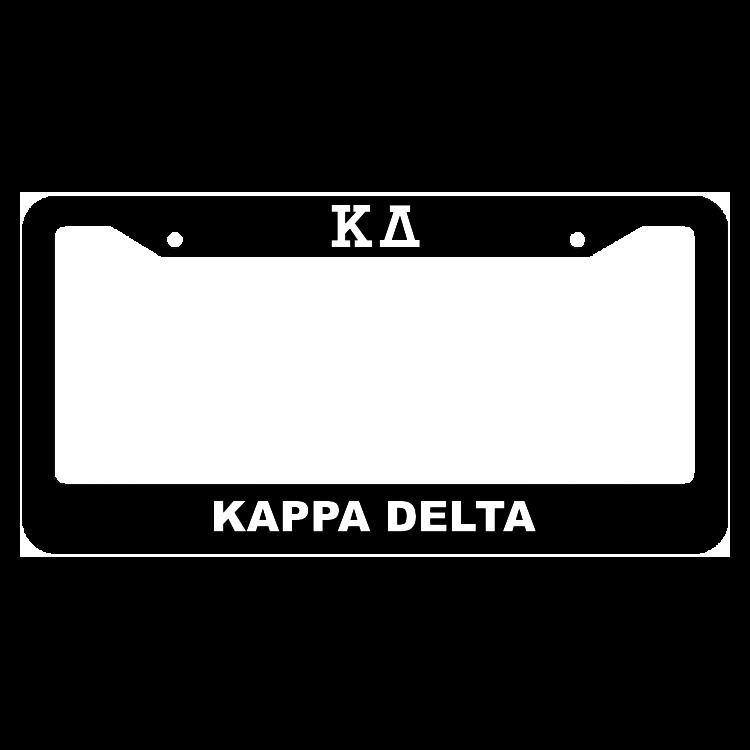 Kappa Delta License Plate Frame