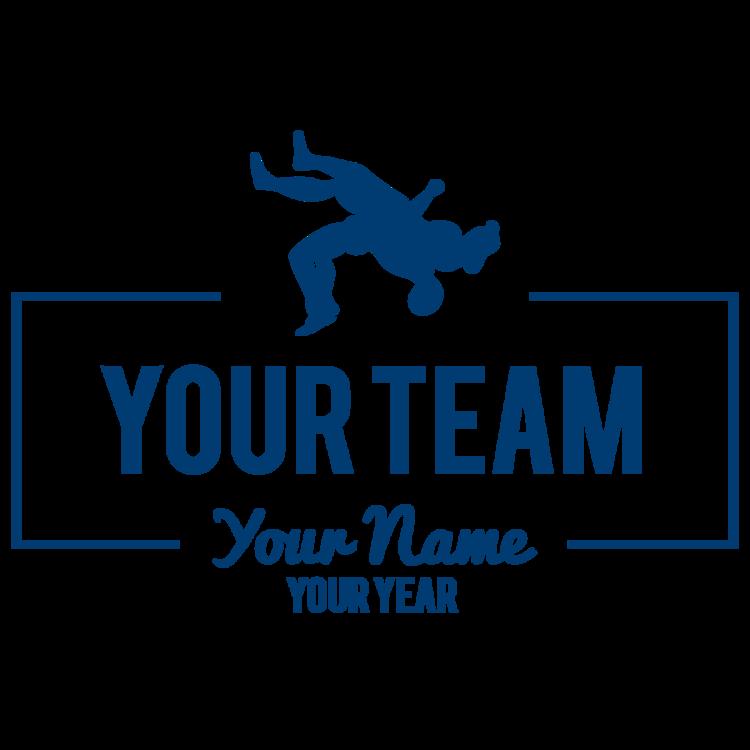Custom Wrestling Team Transfer Sticker