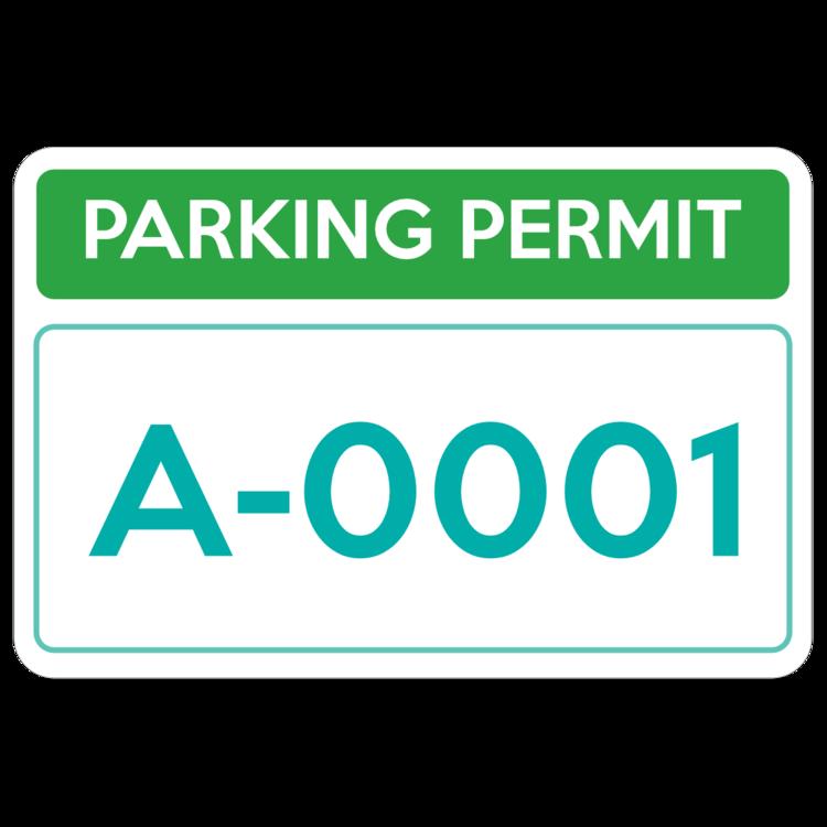 Parking Permit Rectangle 5