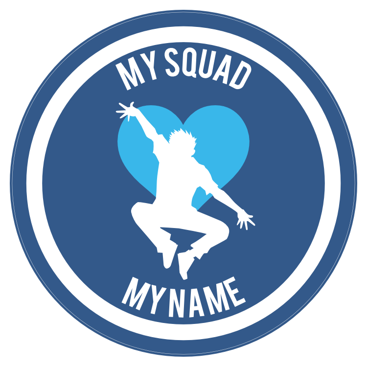 Custom Jumping Dancer with Heart Circle Sticker