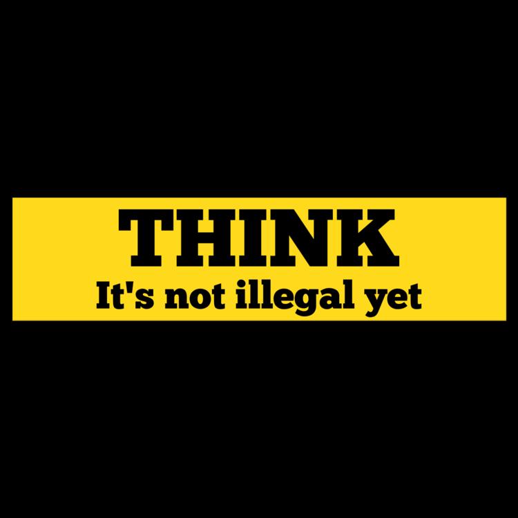 Think Customizable Bumper Sticker